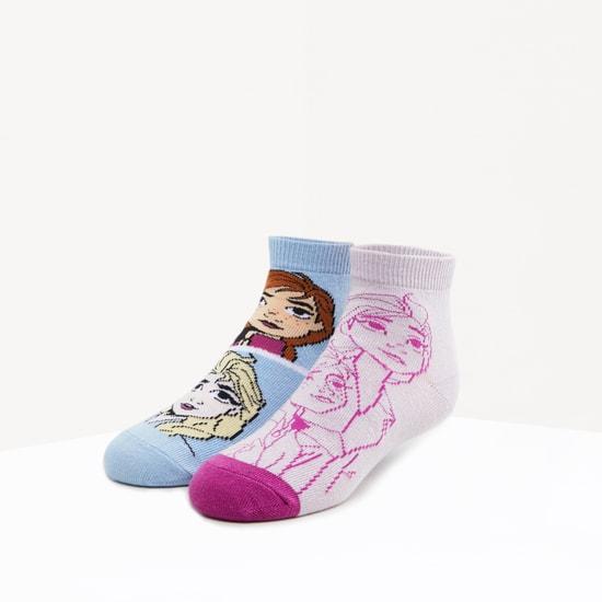 Set of 2 - Frozen Printed Ankle Length Socks