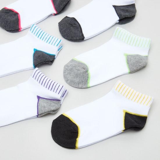 Set of 6 - Colour Block Ankle Length Socks
