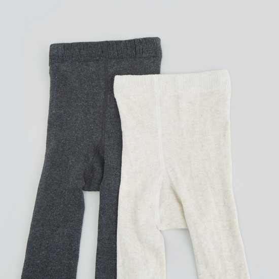 Set of 2 -  Textured Tights