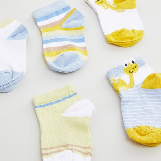 Set of 5 Printed Ankle Length Socks