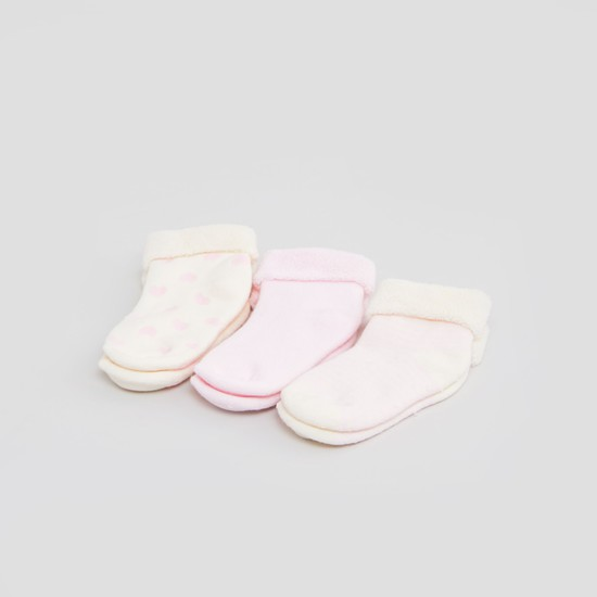Set of 3 - Assorted Socks with Cuffed Hem