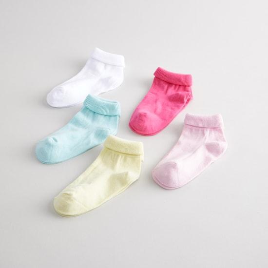 Set of 5 - Ankle Length Socks with Ribbed Hem