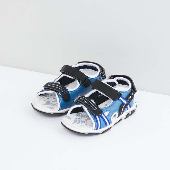 Textured Sandals with Printed Footbed