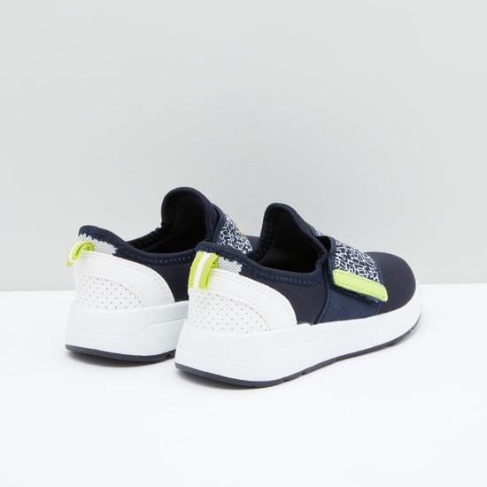 Printed Slip-On Shoes with Hook and Loop Closure