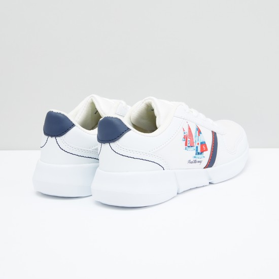 Printed Lace-Up Sneakers