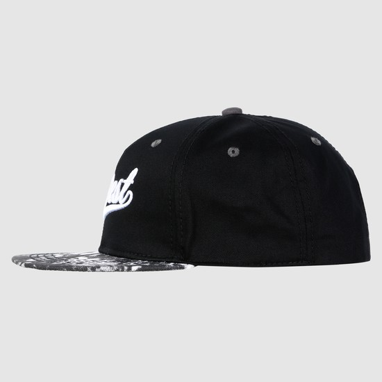 Embroidered Cap with Snap Closure