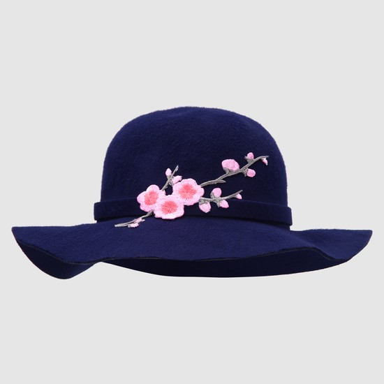 Embroidered Fedora Hat