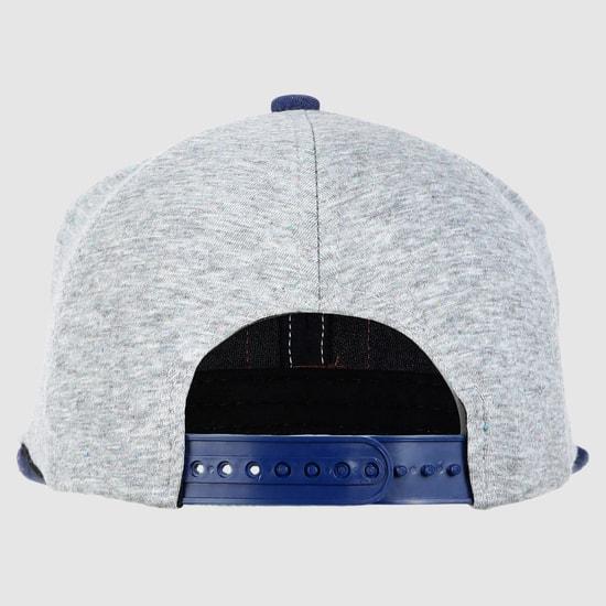 Applique Baseball Cap with Snap Closure
