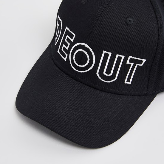 Solid Cap with Typographic Embroidered Detail