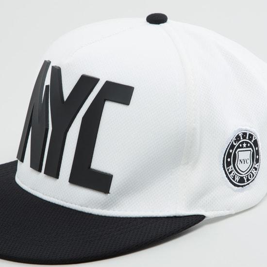 قبعة كاب بنقوش نيويورك وزر إغلاق