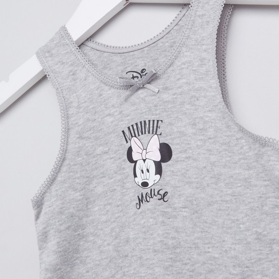 Set of 2 - Minnie Mouse Printed Sleeveless Vest with Scoop Neck