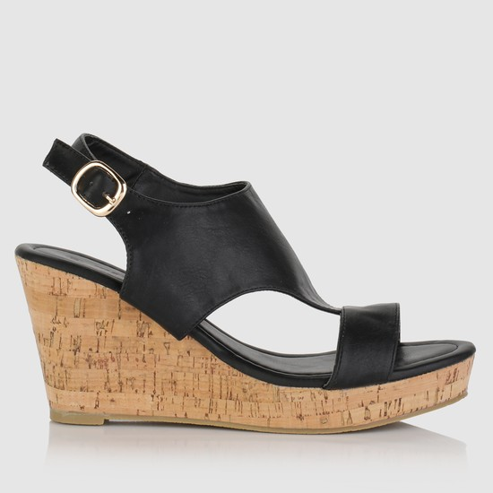 Wedges with Buckle Closure