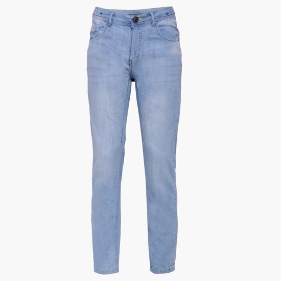 MAX Stonewashed Five-Pocket Jeans