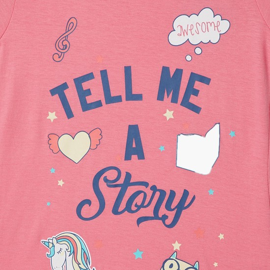 MAX Story Time Graphic Print Top