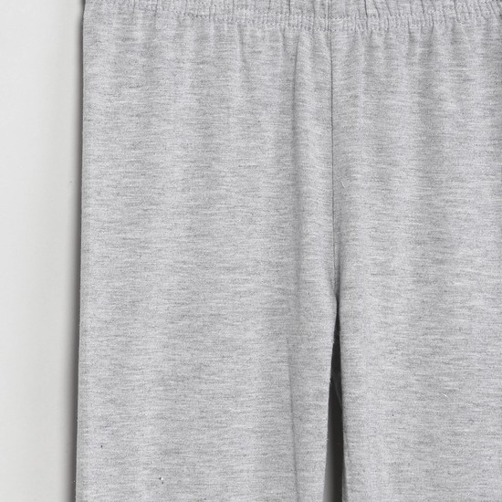 MAX Elasticated Waist Solid Full-Length Leggings