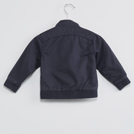MAX Zip-Up Applique Jacket