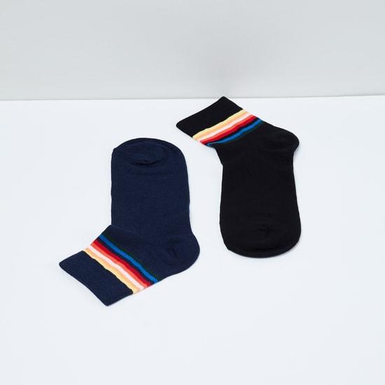 MAX Striped Socks - Pack of 2 - 10-12Y
