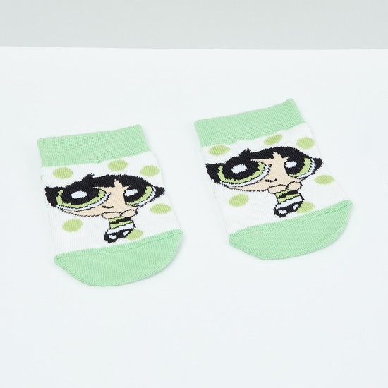 MAX Kids Power Puff Girls Patterned Ankle-Length Socks - 2-4 Y