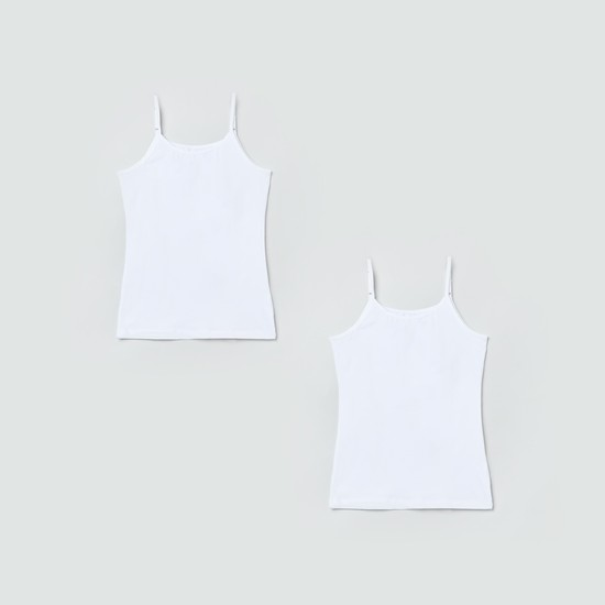 MAX Solid Knitted Camisole- Pack of 2