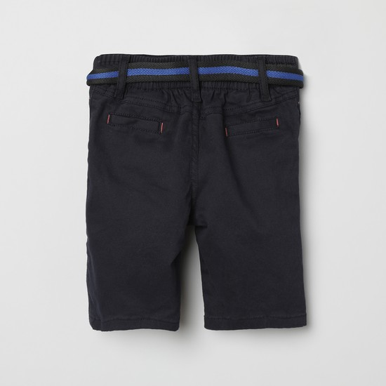 MAX Solid City Shorts with Detachable Belt
