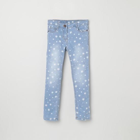 MAX Star Print Slim Fit Jeans