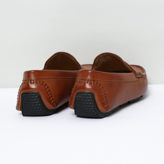 MAX Perforated Penny Slip-On Shoes