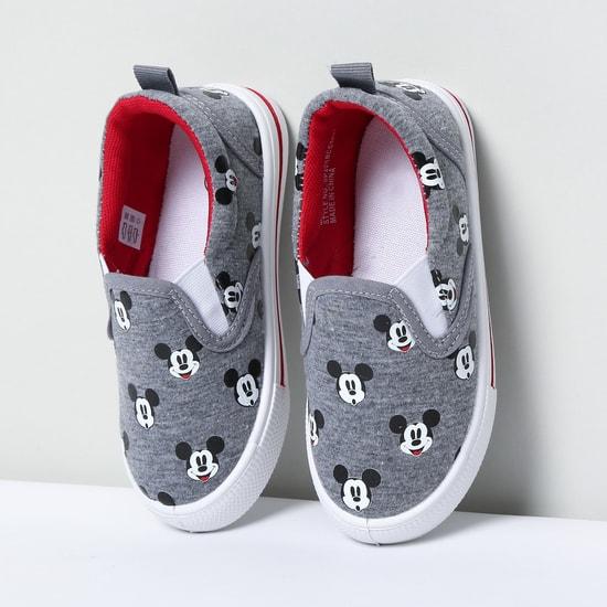 MAX Mickey Print Slip-On Shoes