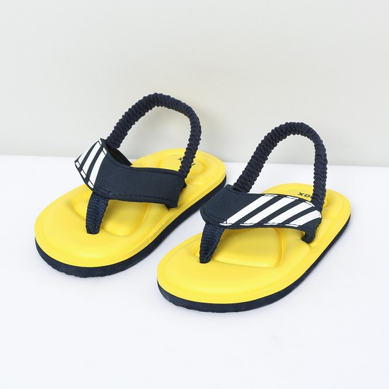 MAX Stripes Textured Slingback Slippers