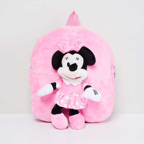 MAX Textured Backpack with Minnie Mouse Applique