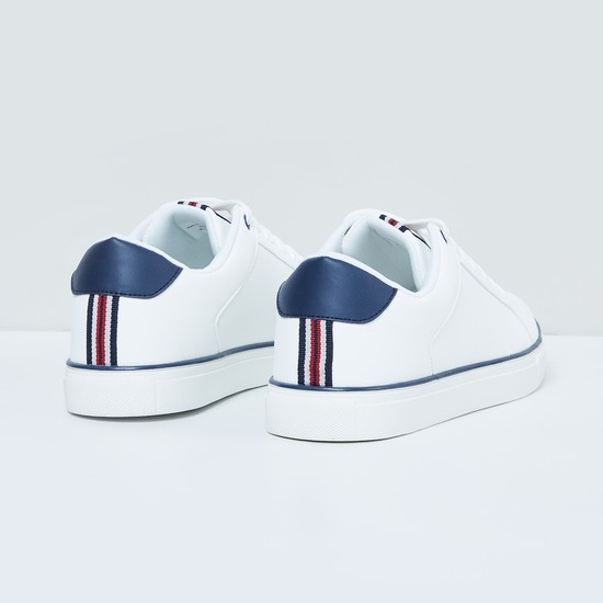 MAX Solid Low-Rise Lace-Up Sneakers