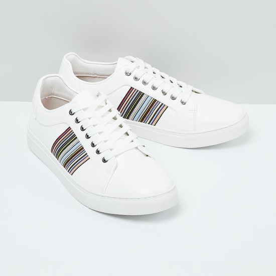 MAX Striped Lace-Up Sneakers