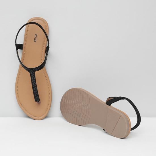 MAX Embellished T-strap Flats