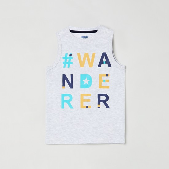 MAX Boys Printed Crew Neck T-shirt