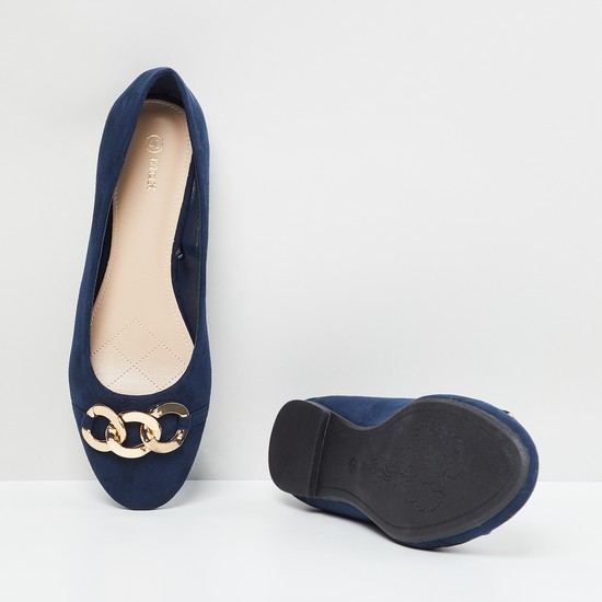 MAX Embellished Pointed-Toe Ballerina Flats