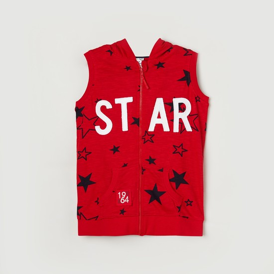 MAX Star Printed Hooded Jacket