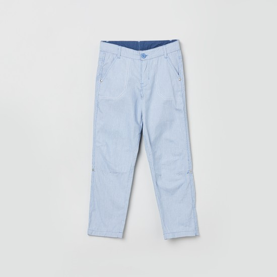 MAX Textured Woven Trousers