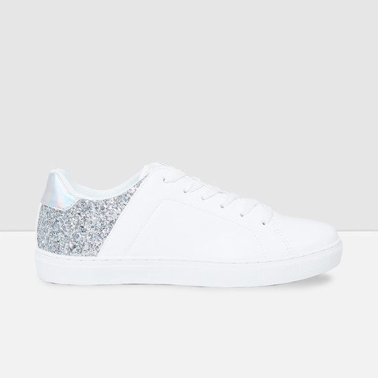 MAX Lace-Up Casual Shoes with Glittered Panel