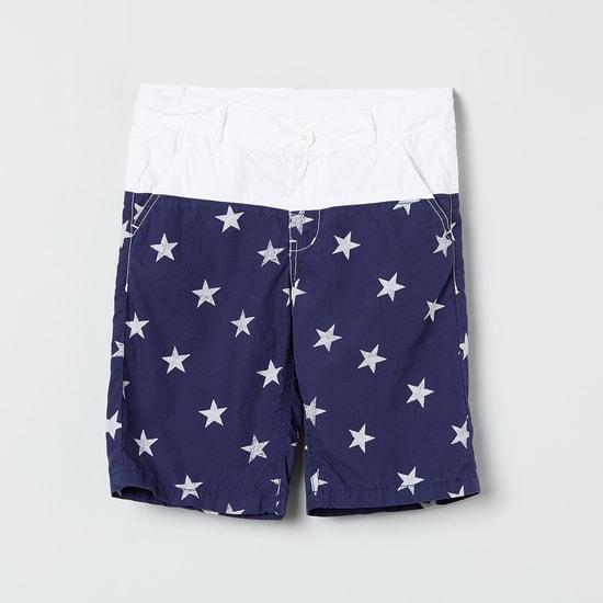 MAX Star Print Colourblock City Shorts