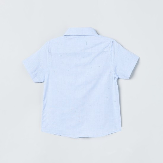 MAX Solid Half Sleeves Spread Collar Shirt
