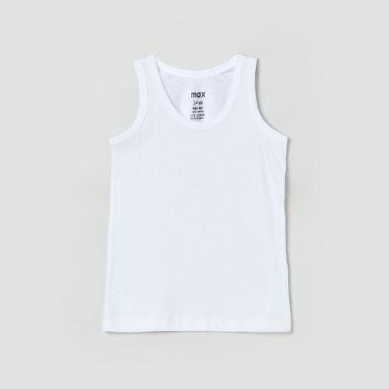 MAX Solid Crew Neck Vest- Pack of 2