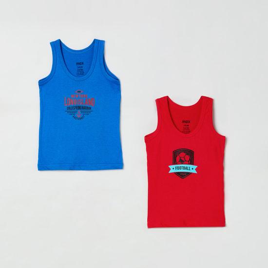 MAX Printed Crew Neck Vest- Pack of 2