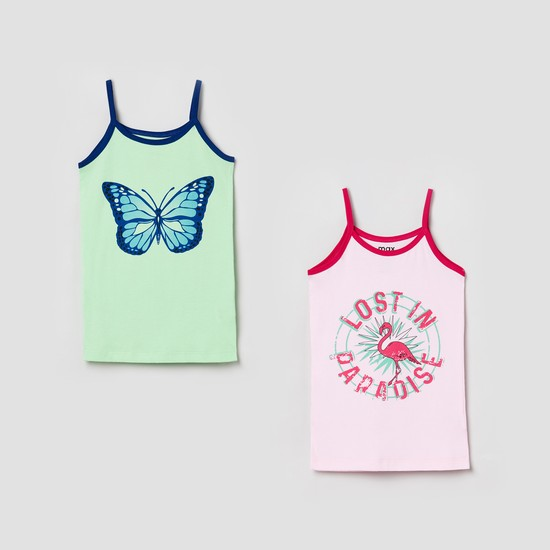 MAX Printed Knitted Camisole- Pack of 2