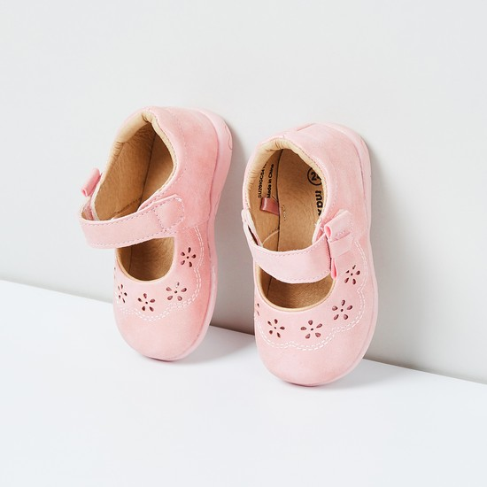 MAX Laser-Cut Mary Janes with Bow
