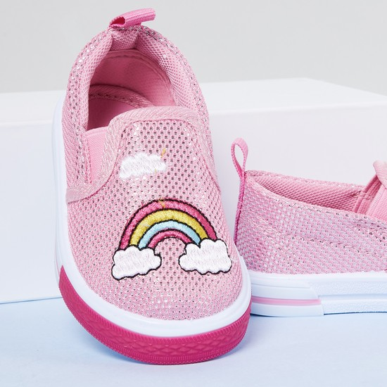 MAX Appliqued Slip-on Shoes
