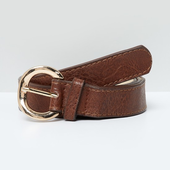 MAX Textured Buckled Casual Belt