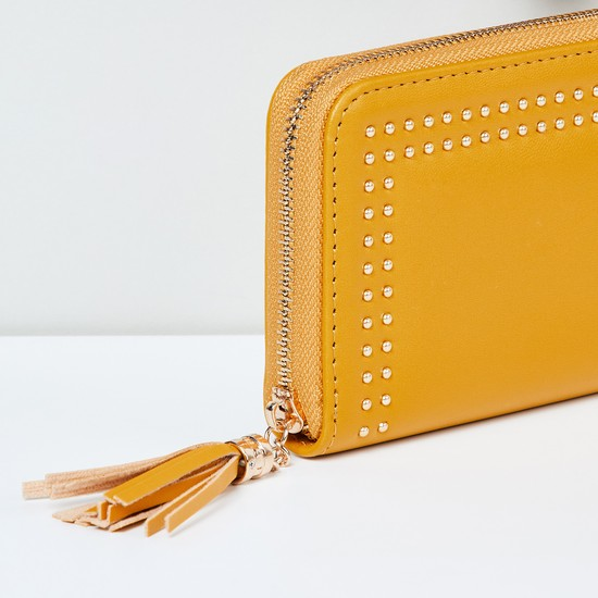 MAX Embellished Zip-Closure Wallet