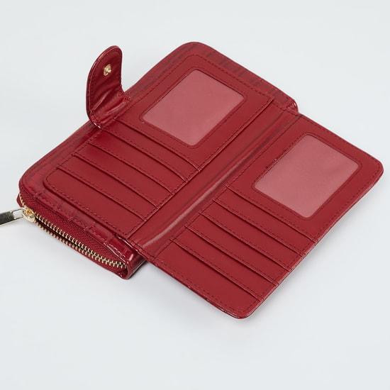 MAX Reptilian Texture Zip-Around Wallet