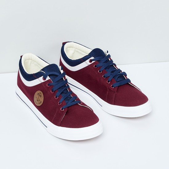 MAX Panelled Lace-Up Casual Shoes