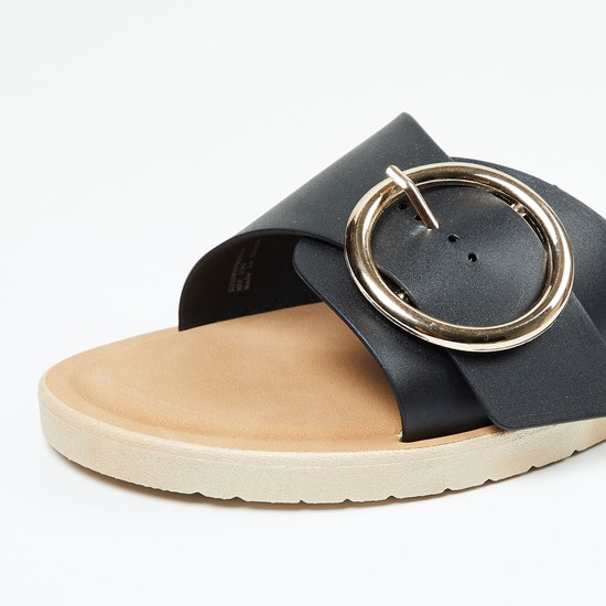 MAX Flat Sandals with Buckle Closure