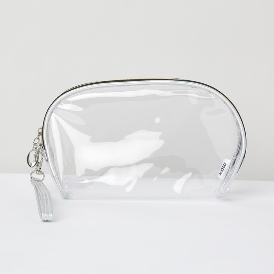 MAX Striped Transparent Pouches - Pack of 2